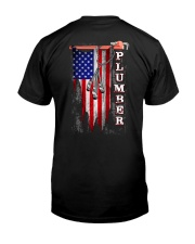 Proud American Plumber Flag Premium Fit Mens Tee tile