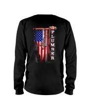 Proud American Plumber Flag Long Sleeve Tee tile