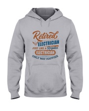 Retired Electrician only way happier Hooded Sweatshirt thumbnail