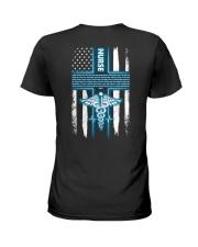 Nurse's Prayer shirt Ladies T-Shirt back