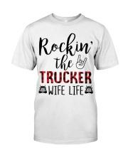 Rockin the Trucker Wife Life Classic T-Shirt thumbnail