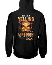 I am not yelling that's how Lineman's talk Hooded Sweatshirt thumbnail