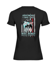 Firefighter: Not like most women Premium Fit Ladies Tee thumbnail