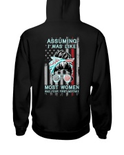 Firefighter: Not like most women Hooded Sweatshirt back