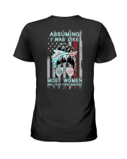 Firefighter: Not like most women Ladies T-Shirt thumbnail