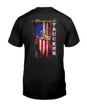 Proud American Trucker flag Classic T-Shirt back