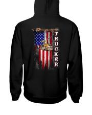 Proud American Trucker flag Hooded Sweatshirt tile
