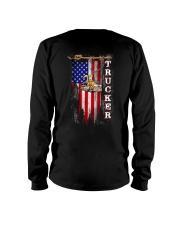 Proud American Trucker flag Long Sleeve Tee tile