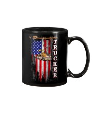 Proud American Trucker flag Mug tile