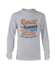 Retired Plumber only way happier Long Sleeve Tee thumbnail