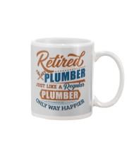 Retired Plumber only way happier Mug tile