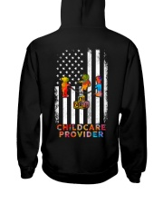 Proud American Childcare Provider Colourful Flag Hooded Sweatshirt thumbnail