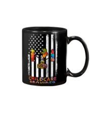 Proud American Childcare Provider Colourful Flag Mug thumbnail