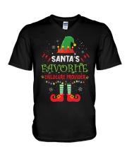 Santa's Favorite Childcare Provider V-Neck T-Shirt tile