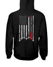 Aircraft Mechanic USA Flag Hooded Sweatshirt thumbnail