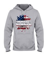 Postal Worker love what you do Hooded Sweatshirt tile