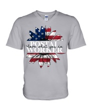 Postal Worker love what you do V-Neck T-Shirt tile