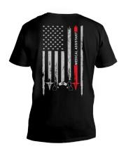 Proud American Medical Assistant Flag V-Neck T-Shirt tile