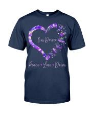 Peace Love Bus Driver Classic T-Shirt front