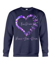 Peace Love Bus Driver Crewneck Sweatshirt thumbnail