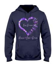 Peace Love Bus Driver Hooded Sweatshirt thumbnail