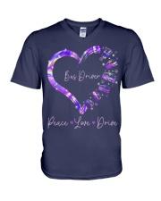 Peace Love Bus Driver V-Neck T-Shirt thumbnail