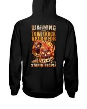 Tow Truck Operator: Warning for Stupid People Hooded Sweatshirt thumbnail