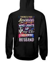 There's this Lineman who lights up my life Hooded Sweatshirt back