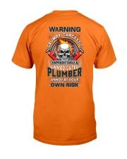 Sarcastic Plumber Classic T-Shirt back
