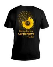 Love my llife as a Carpenter's wife  V-Neck T-Shirt tile