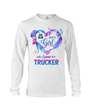 Just a Girl who Loves her Trucker Long Sleeve Tee thumbnail