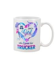 Just a Girl who Loves her Trucker Mug tile