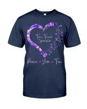 Peace Love Tow Truck Operator Classic T-Shirt front