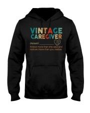 Vintage Caregiver Hooded Sweatshirt thumbnail