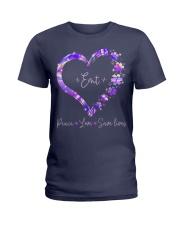 Peace Love Emt Ladies T-Shirt thumbnail