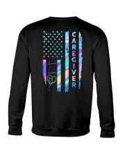 Caregiver US Flag Crewneck Sweatshirt thumbnail