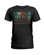 Vintage Vet Tech Ladies T-Shirt front