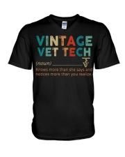 Vintage Vet Tech V-Neck T-Shirt thumbnail