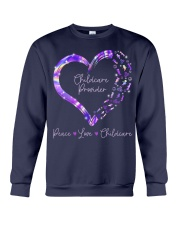 Peace Love Childcare Provider Crewneck Sweatshirt thumbnail