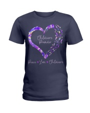 Peace Love Childcare Provider Ladies T-Shirt thumbnail