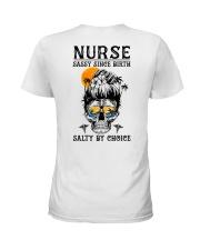 Nurse Salty by Choice Ladies T-Shirt back