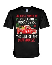 Awesome Childcare Provider V-Neck T-Shirt tile