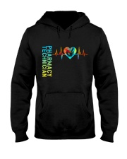 Pharmacy Technician Heartbeat Hooded Sweatshirt thumbnail