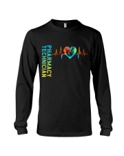 Pharmacy Technician Heartbeat Long Sleeve Tee tile