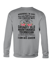 Maintenance Technician's Wife: I am his Queen Crewneck Sweatshirt thumbnail