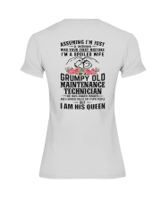 Maintenance Technician's Wife: I am his Queen Premium Fit Ladies Tee thumbnail