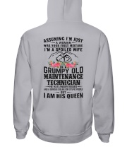 Maintenance Technician's Wife: I am his Queen Hooded Sweatshirt thumbnail