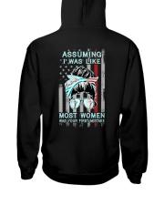 Bartender: Not like most women Hooded Sweatshirt back