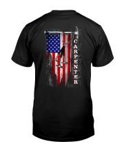 Proud American Carpenter Flag Classic T-Shirt back