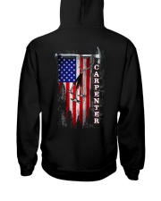 Proud American Carpenter Flag Hooded Sweatshirt thumbnail